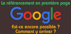 Faire apparaître son site Internet en première page sur Google