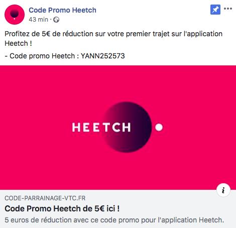 CODE PROMO VTC HEETCH