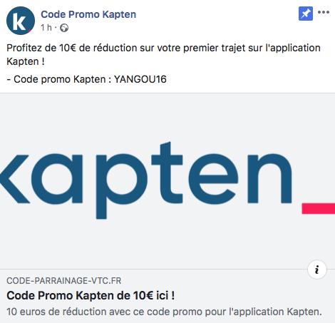 CODE PROMO VTC KAPTEN