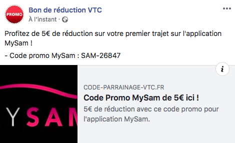 CODE REDUCTION VTC MYSAM