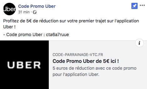 CODE PROMO VTC UBER