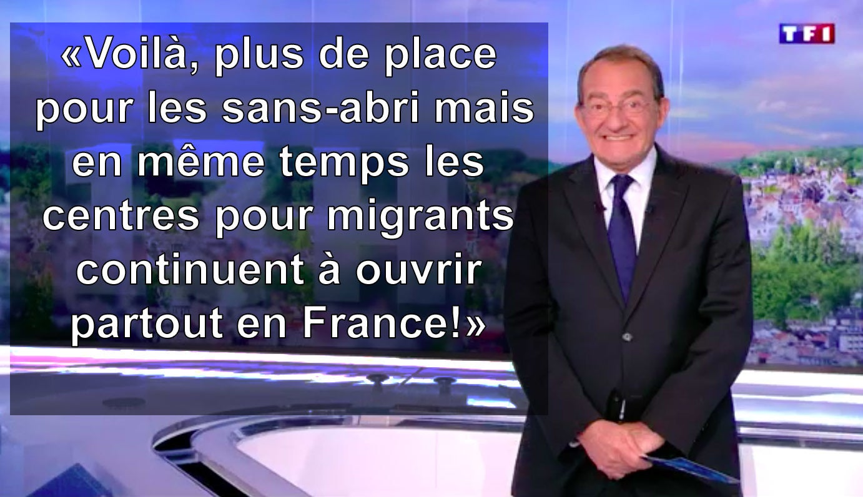 Jean-Pierre Pernaut SDF Migrant