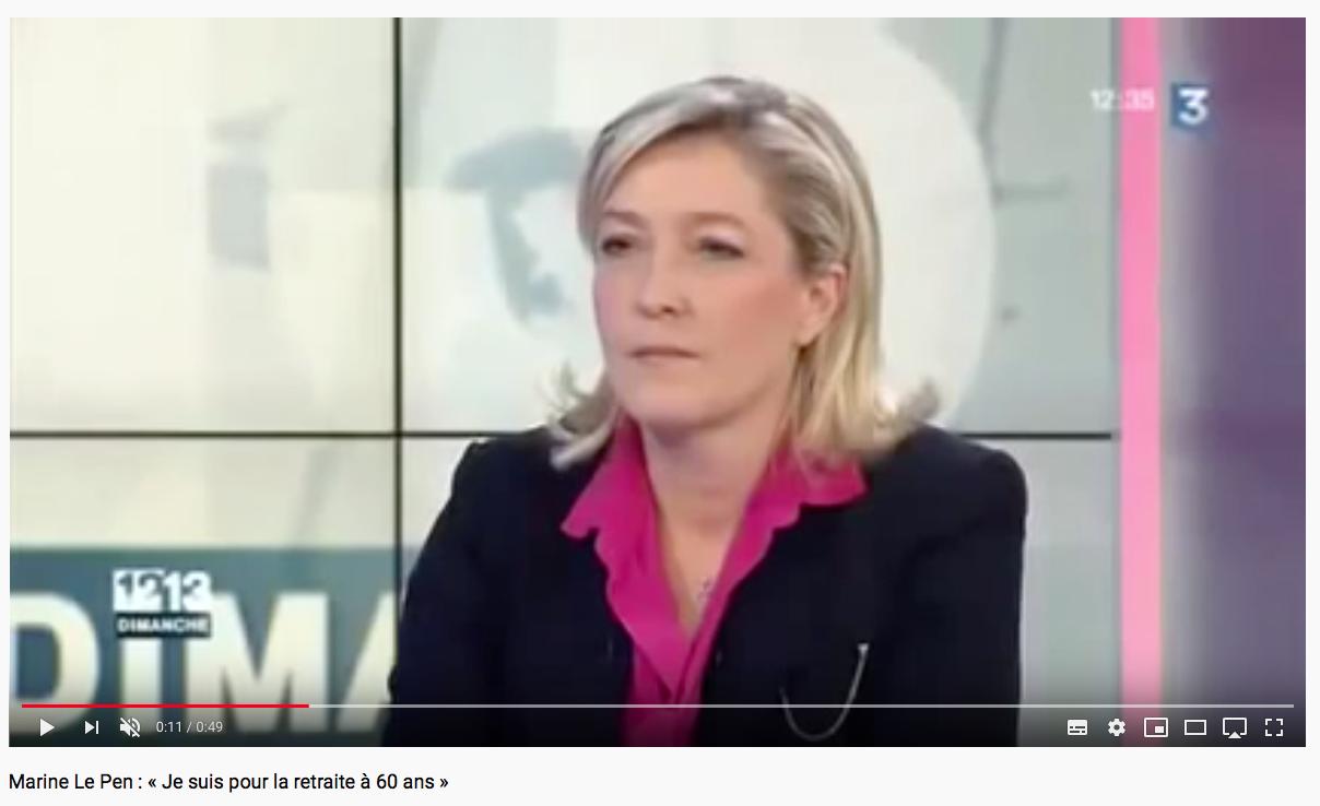 Marine Le Pen Retraite