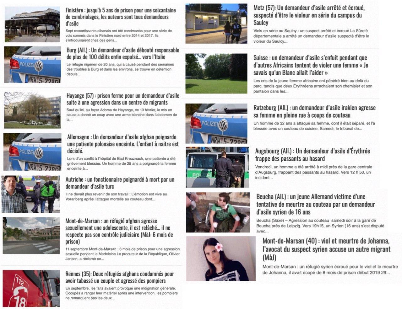 Titre de presse délinquance immigration
