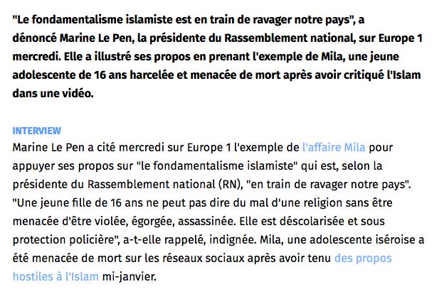 Marine le Pen Mila
