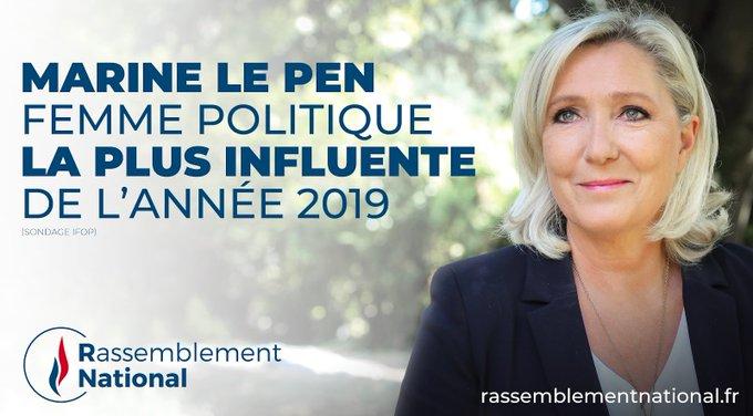 Marine Le Pen femme politique la plus influente