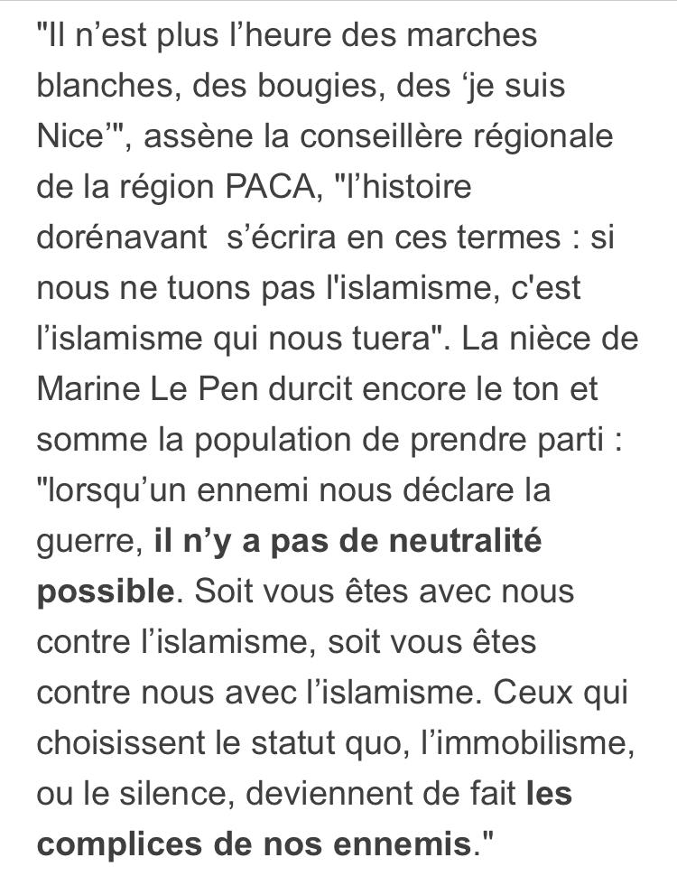 Marion Maréchal Le Pen : « Si nous ne tuons pas l'islamisme, c'est lui qui nous tuera ! »