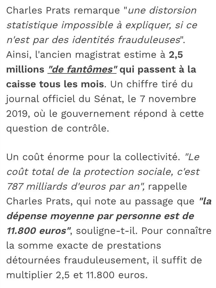 2,5 millions de fantômes nés à l'étranger passent à la caisse de la CAF tous les mois, soit une perte de 787 milliards d'euros par an !