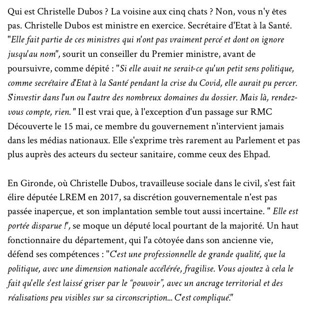 Christelle Dubos (LREM), Ministre fantôme et officiellement… Secrétaire d'Etat à la santé !
