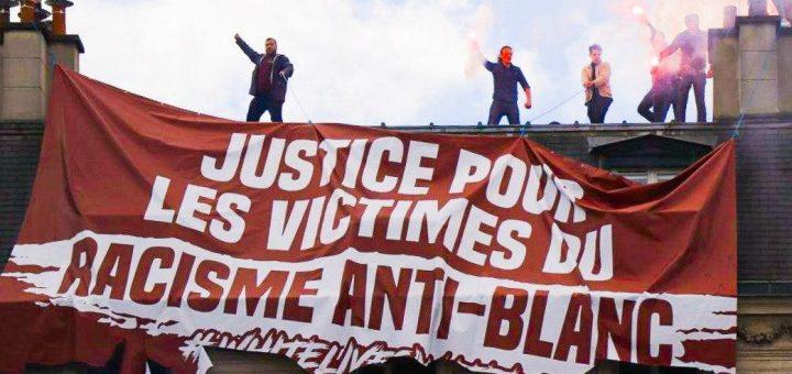 Pétition : Je soutiens « Génération Identitaire » et leur banderole « Justice pour les victimes du racisme anti-blanc », alors je signe cette pétition !
