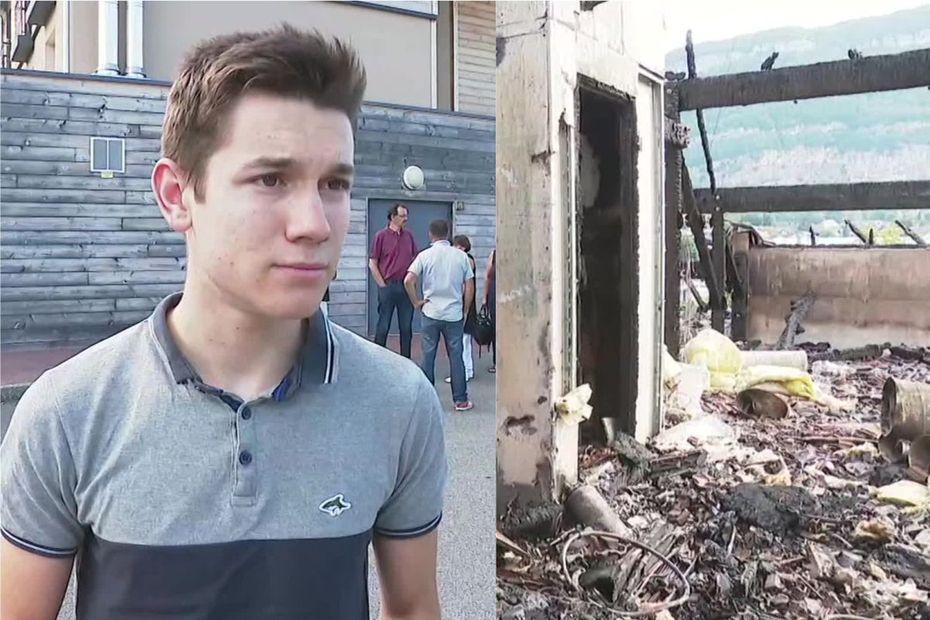 Incendie à l'Ehpad de Sillingy : A 18 ans, Clément « monte dans les flammes » et sauve plusieurs pensionnaires !