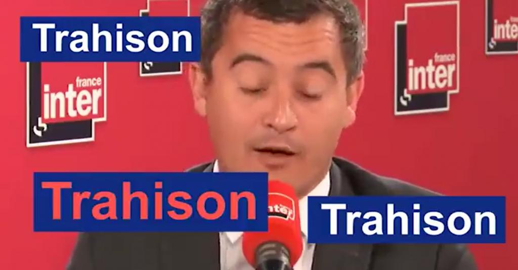 Trahison : Quand Gérald Darmanin dit tout et son contraire !
